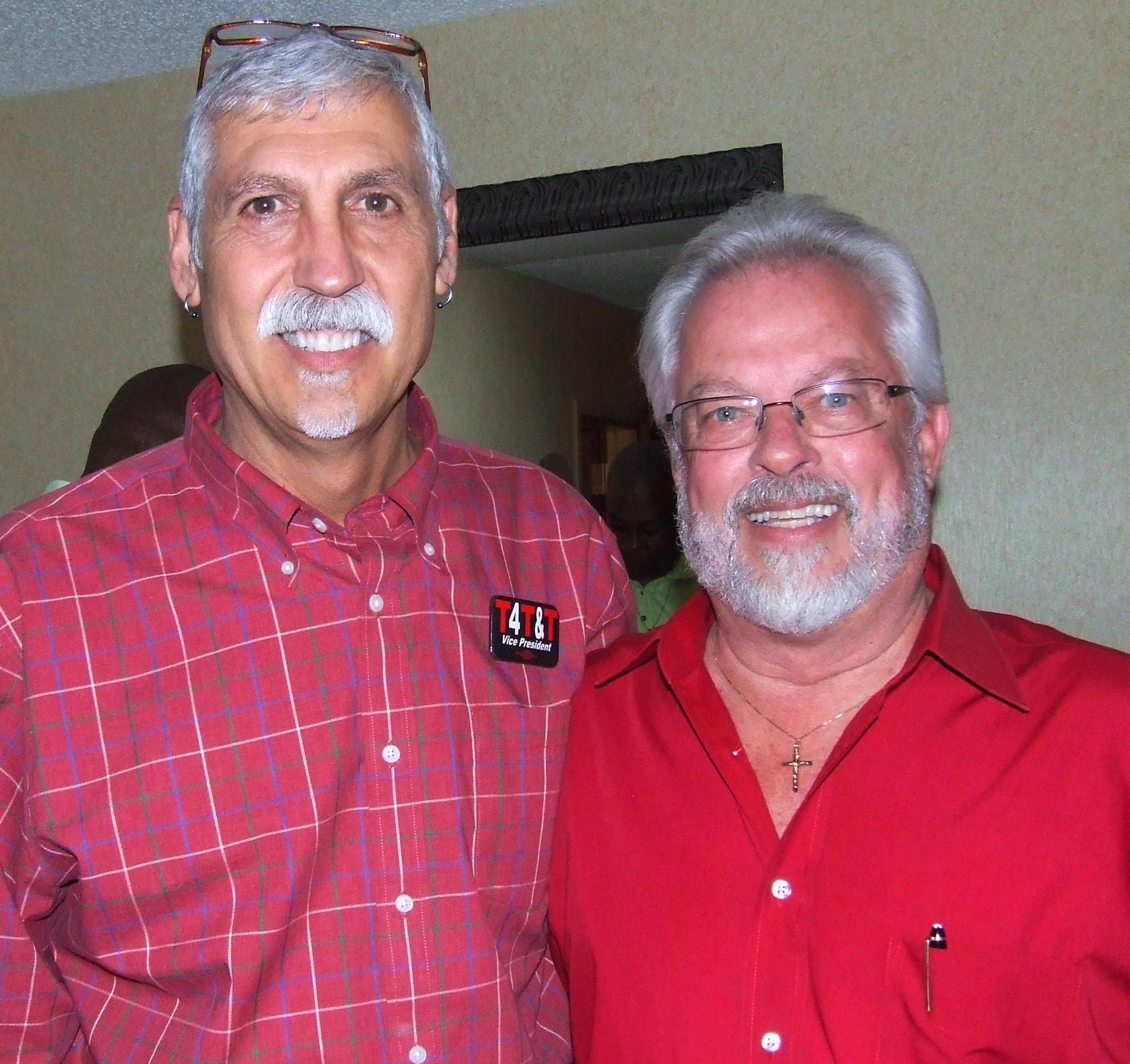 President Santora with D9 VP Tom Runnion