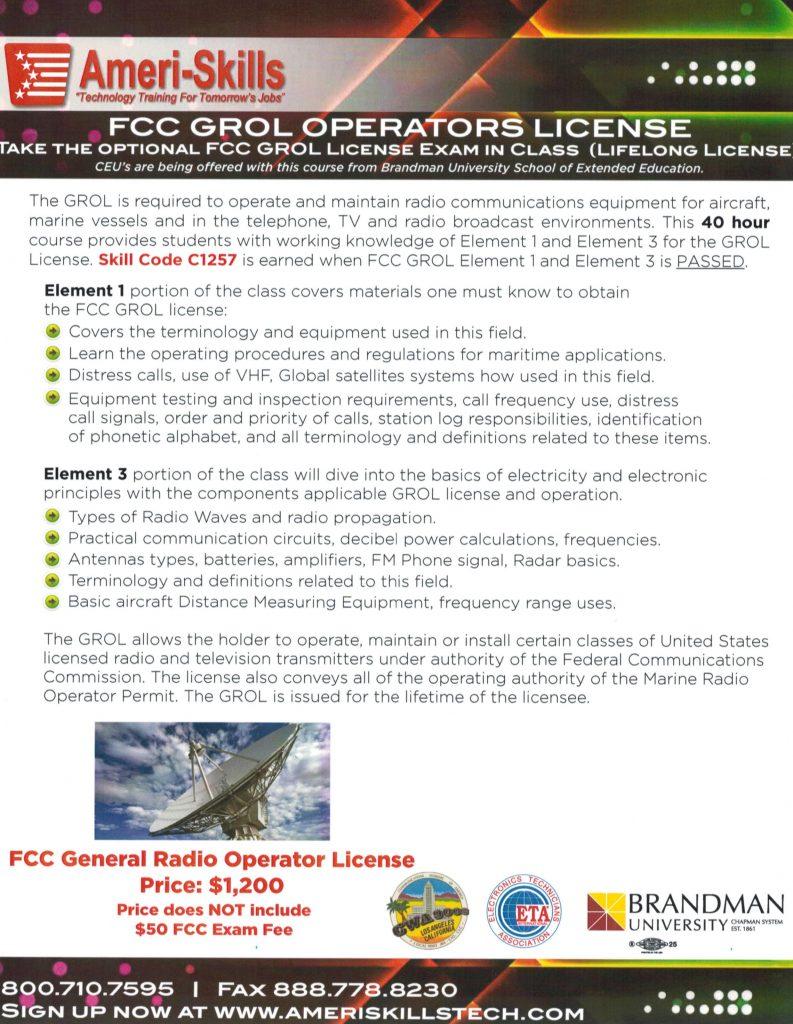 AT&T Horizons FCC License Class | CWA 9003